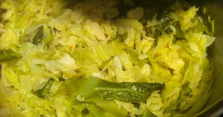 Braised Savoy Cabbage