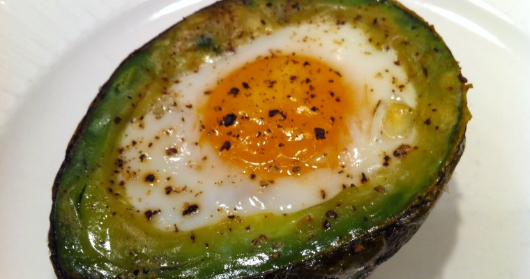 Egg Cooked in Avocado