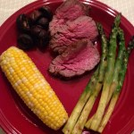 Entire Meal on the Grill: Beef tenderloin, corn and green vegetable – One Dish, Two Ways