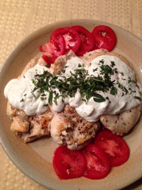 Grilled Chicken with Tzatziki Sauce