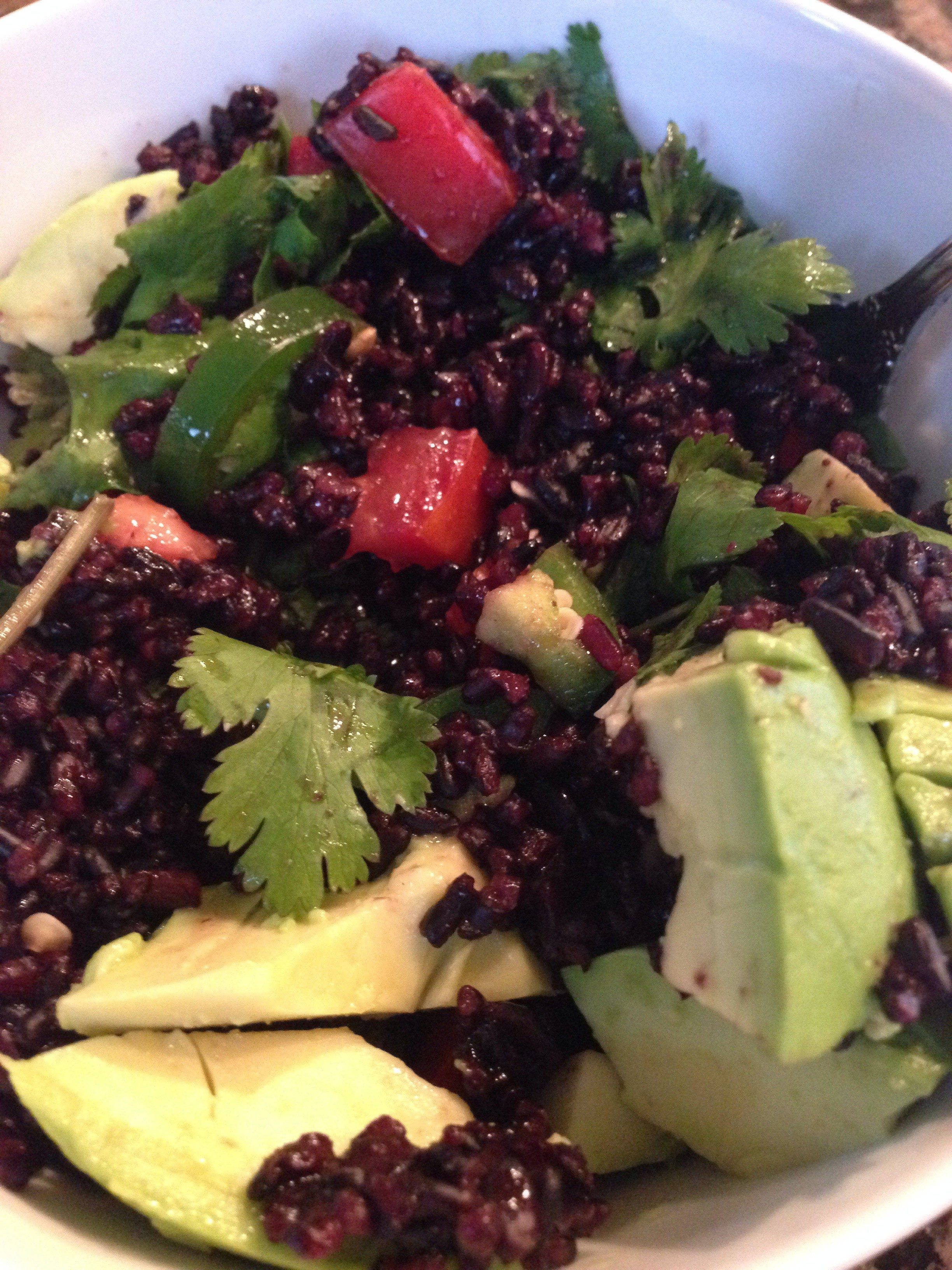 Black Rice with Cilantro