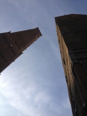 The leaning tower of Bologna? Pisa must have the copyright. This one was cool though.