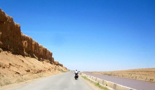 Into the desert...