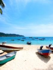111 'Boats On Pehentian Beach' - Malaysia