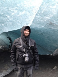 Got my picture taken at a glacier in Iceland