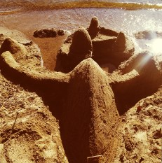 Participated in making a sand castle