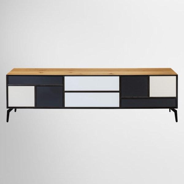 מזנון שחור ולבן מרובע כהן רהיטים