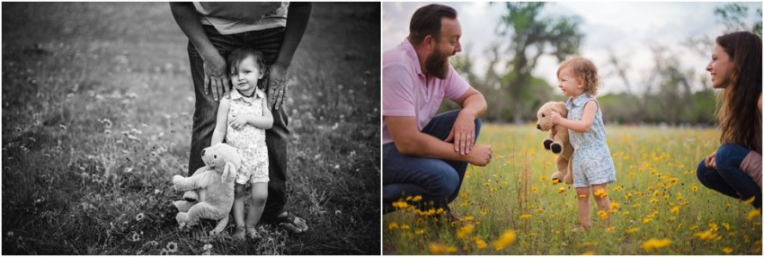 2 year old baby session in flower field| jacksonville children photographer