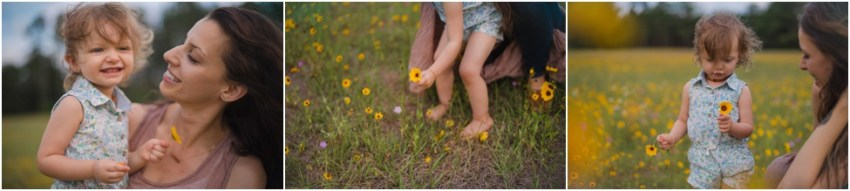 child picking up flowers| jacksonville children photographer