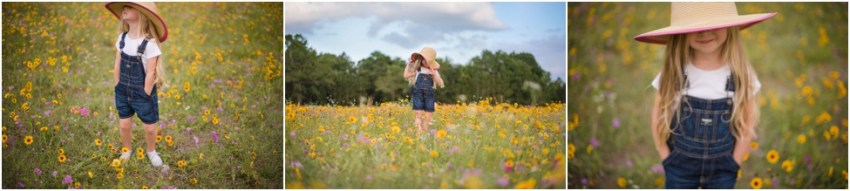little girl in the flower field | Jacksonville Children Photographer