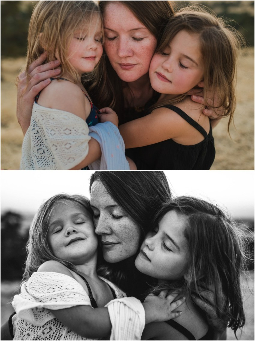 mom hugging her daughters | Jacksonville Children Photographer