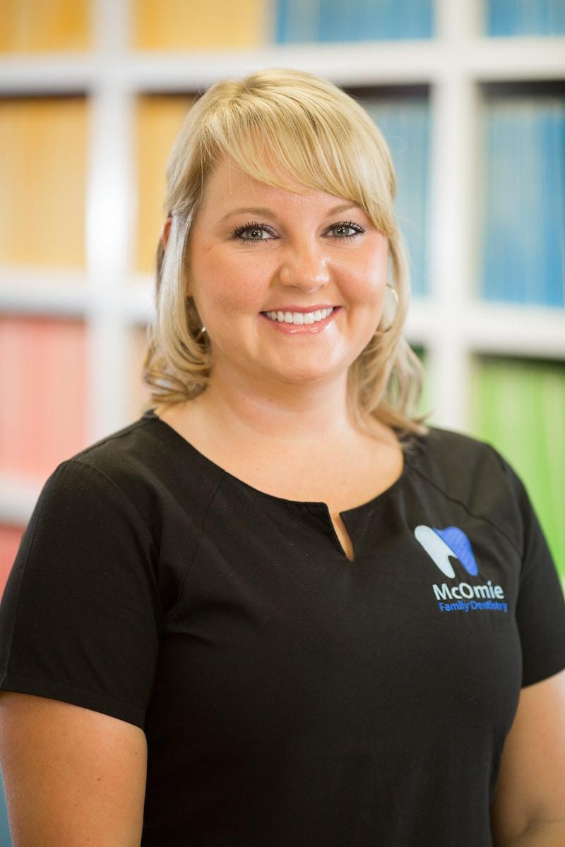 Dental assistant Savannah Potter