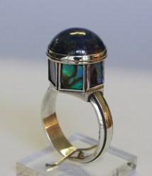 Planetarium Rings: silver, lapis lazuli, paua shell