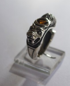Beauty & the Beast ring: silver, citrine
