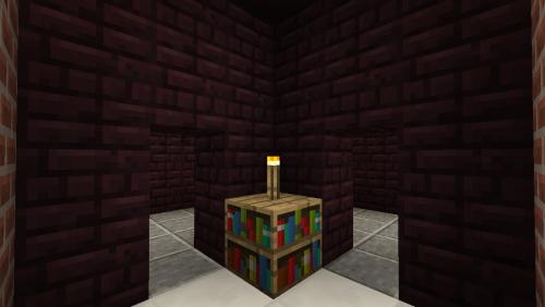 A corner reading nook