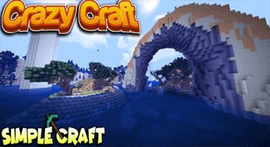 Crazy Craft Custom Terrain + Structures! Minecraft Maps