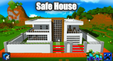 Safe House Map (Building/System) | Minecraft PE Maps