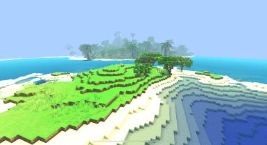 Tropical Oasis Island | Minecraft PE Maps