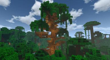 Jungle Tree House | Minecraft Map