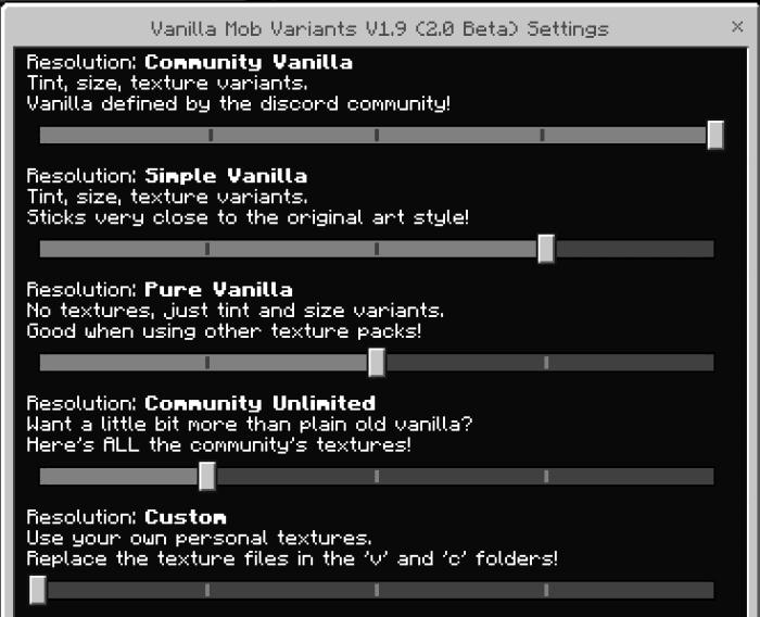 Vanilla Mob Variants