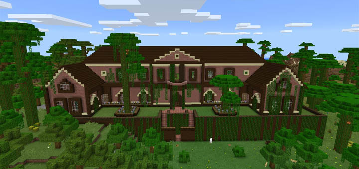 Rugged Jungle Mansion Creation Minecraft PE Maps
