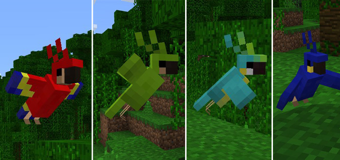 Image result for minecraft parrots