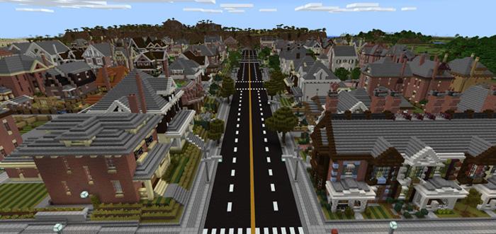 The Neighborhood Creation Minecraft PE Maps