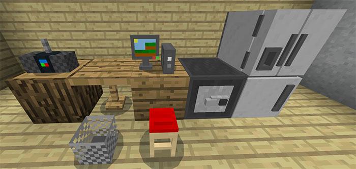 Mine Furniture Addon Minecraft PE Mods Amp Addons
