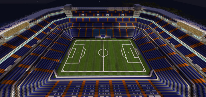 Santiago Bernabeu Stadium Creation Minecraft PE Maps