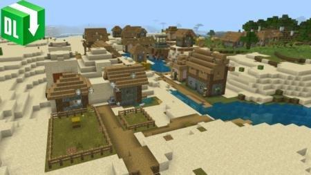 pyramid and village