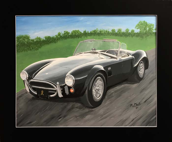 1965 Charcoal Gray Shelby 427 Cobra painting by Jeff McPhail