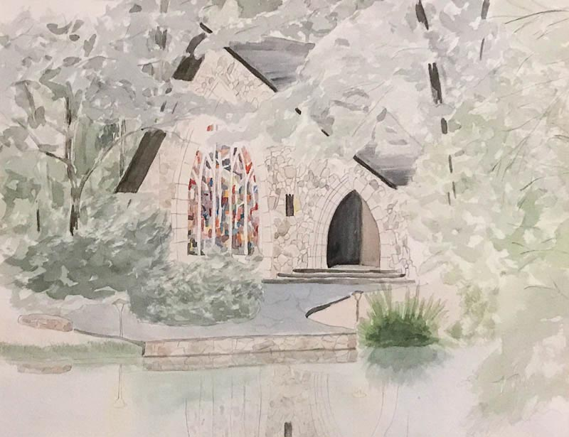 The Chapel, watercolor on paper