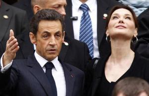 French President Sarkozy with wife Carla Bruni