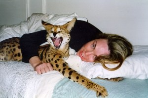 serval and girl