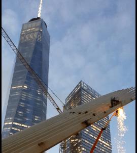 Sparks Fly from Santiago Calatrava's Oculus