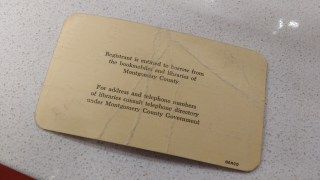 Back of Old Library Card