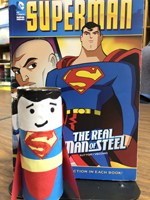 Superman book cover and craft