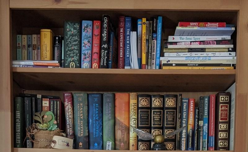 Two shelves full of books