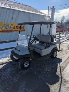 2017 Grey Electric Club Car $6499.00….4 passenger seating and light kit installed