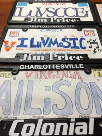 MCHS License Plate