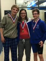 All-State Swim Winners: (l to r) Ben Dillon, Claudia Gohn, Grayson Wood