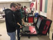 MCHS Students at Germanna With Simulated Welding