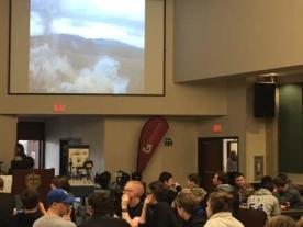 MCHS Watching Quarry Blast