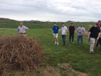 RJ Noblitt and MCHS Students in Front of Vine Pile