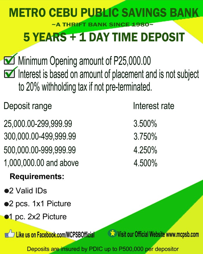 5years+1day time deposit