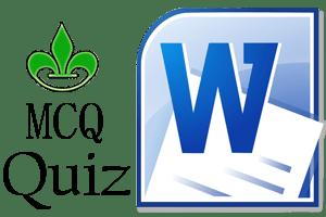 MS Word MCQ Quiz