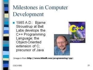 Computer Milestones – Trace the history