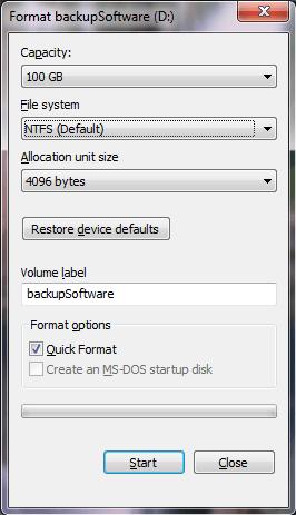 Windows Format Tool