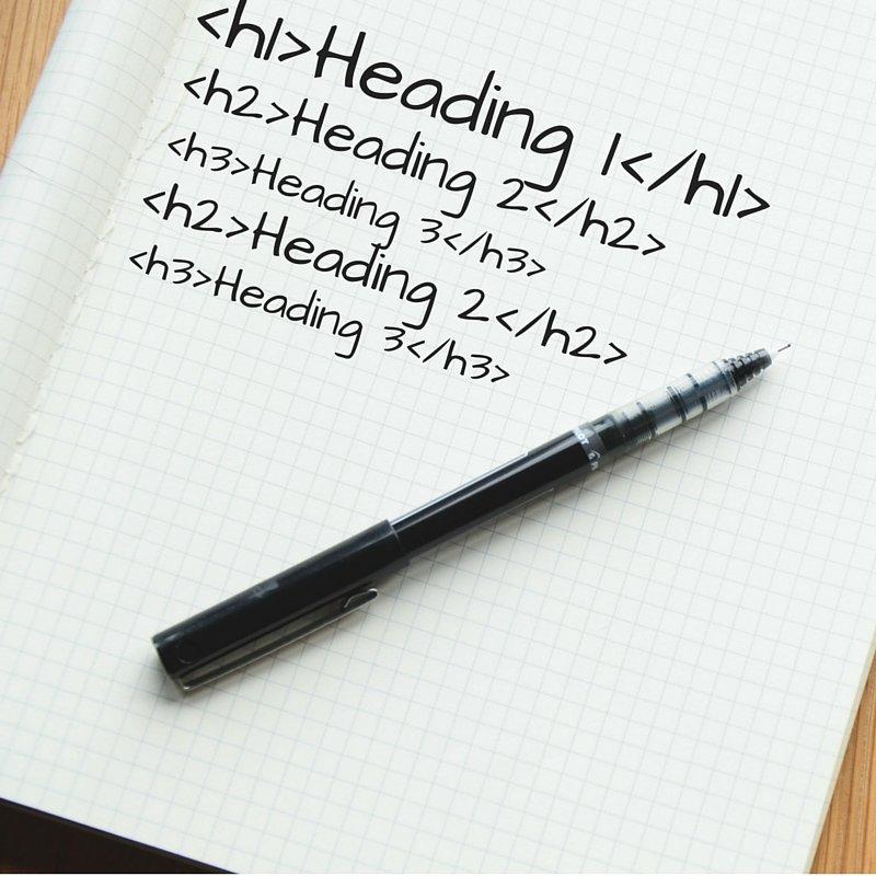 html heading tags
