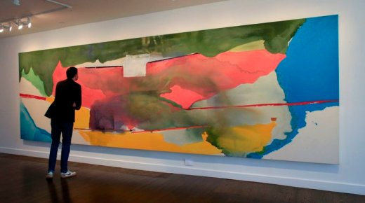 With 'Fierce Poise,' Helen Frankenthaler Poured Beauty Onto Canvas